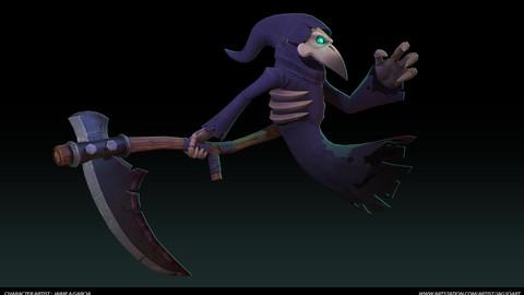 Stylized Reaper Game Mesh