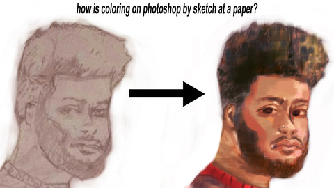 How is Coloring on Photoshop by Sketch at A Paper