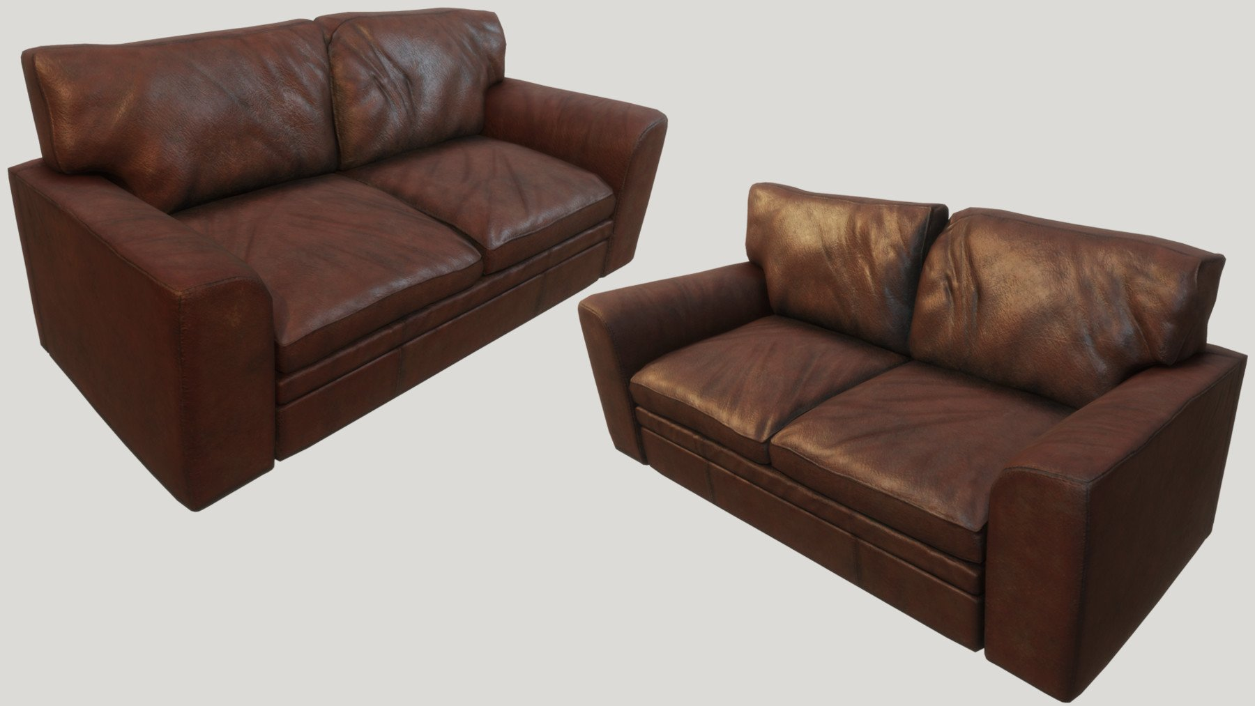 Old Leather Couches PBR