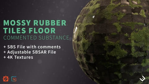 Mossy Rubber Tiles | Commented Substance