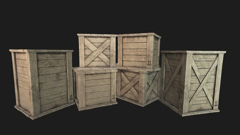Wooden Crates PBR