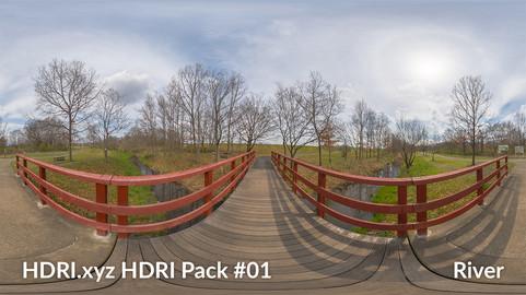 River #01 - 16K 32bit HDRI Spherical Panorama (from Pack #1)