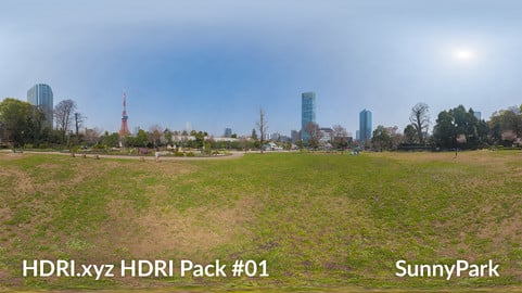 Sunny Park - 16K 32bit HDRI Spherical Panorama (from Pack #1)