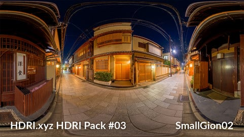 Small Gion #02 - 16K 32bit HDRI Spherical Panorama (from Pack #3)