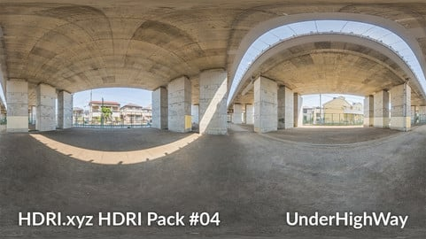 Under High Way - 16K 32bit HDRI Spherical Panorama (from Pack #4)