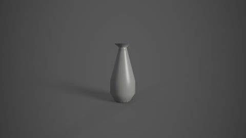 Low poly simple vase