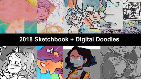 2018 Sketchbook + Digital Downloads