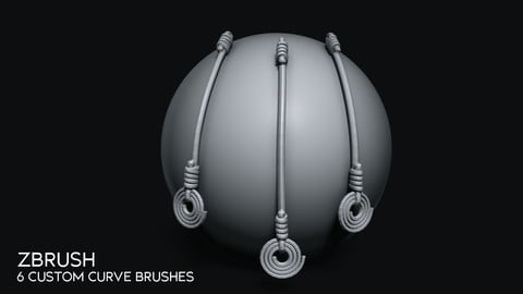 Zbrush - 6 Custom Curve Brushes