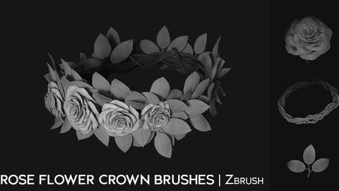 Zbrush - ROSE FLOWER CROWN BRUSHES