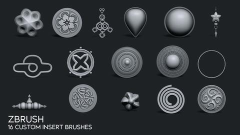 ZBRUSH - Custom Insert Brushes
