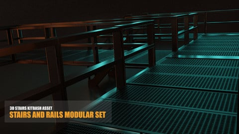 Stairs and Rails Modular Set