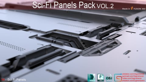 Sci-Fi Panels Pack vol 02