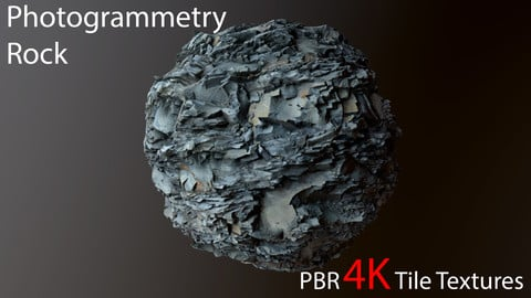 Photogrammetry Rock PBR 4k Tile Texture