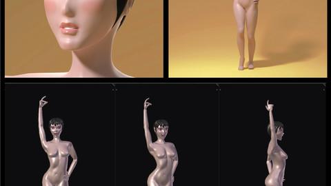 ArtStation - Maria - rigged anime character, Francesco di Buono
