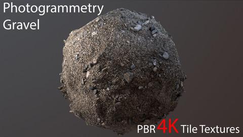 Photogrammetry Gravel_1 PBR 4k Tile Texture