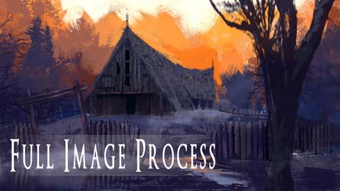 Spooky Barn Full process