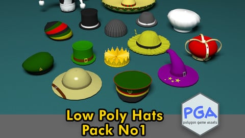 Low Poly Hats No1