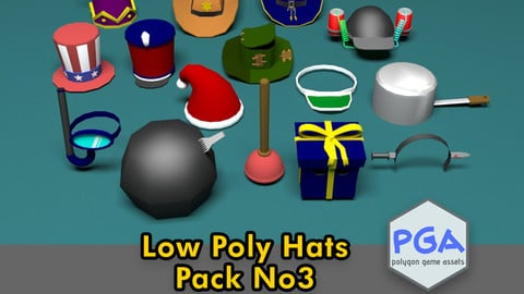 Low Poly Hats No3