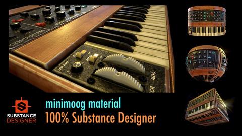 MiniMoog Material - 100% Substance Designer