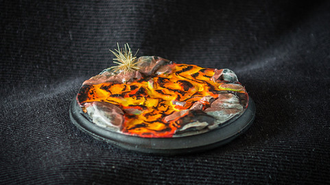 Lava Stream - 3D Printable Digital Sculpture for Tabletop Games