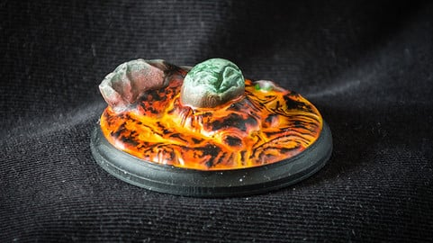 Fire Dragon Egg - 3D Printable Digital Sculpture for Tabletop Games