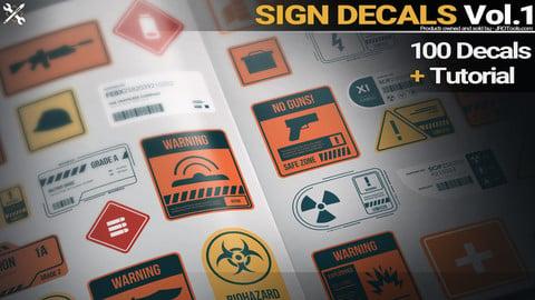 Sign Decals Vol.1