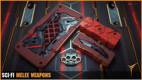 Sci - Fi Melee weapon set