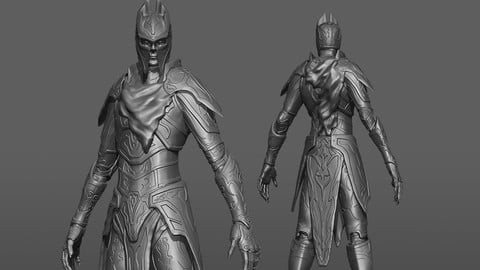 Model - Guardian - High Poly - Zbrush 3D model