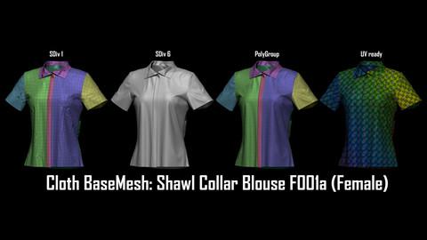 Marvelous + Cloth BaseMesh : Shawl Collar Blouse F001a (Female)