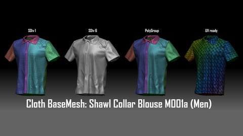 Marvelous + Cloth BaseMesh : Shawl Collar Blouse M001a (Men)