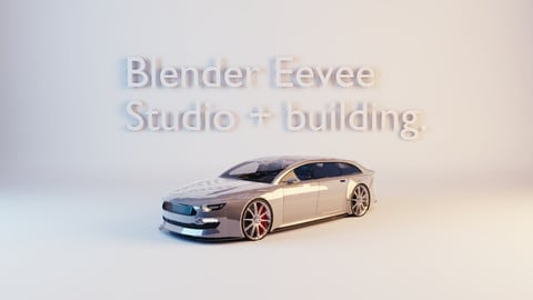 Blender Eevee studio and building