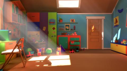 Asset - Cartoons - Bedroom- 02 3D model