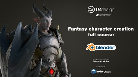 Dragon Knight - Blender 3D character creation full course