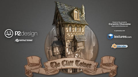 The Cliff Tower - Fantasy House creation course in Blender 3D