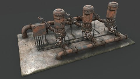 Rusted pump station