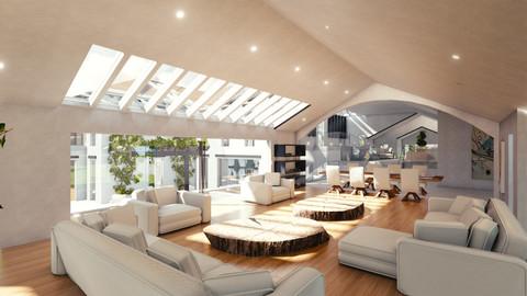 Blender Eevee Modern Mansion
