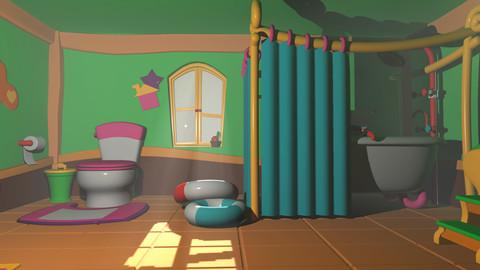 Asset - Cartoons - Bathroom 3D model