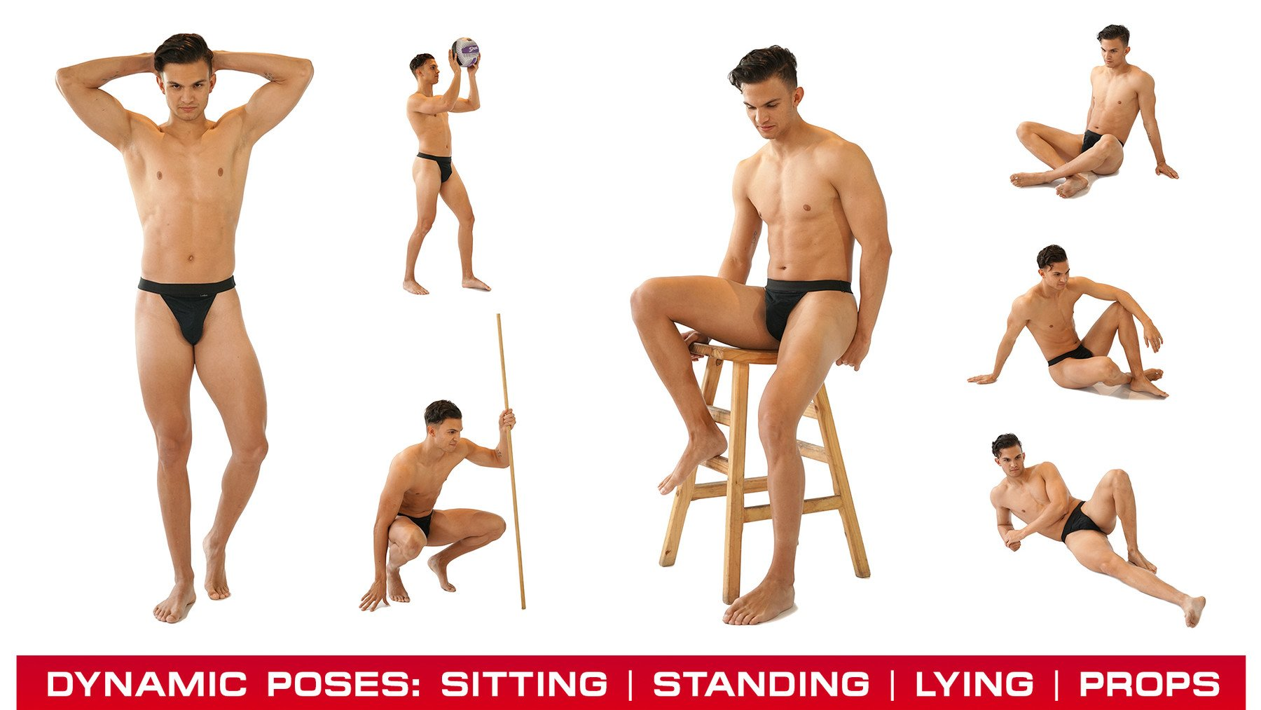 Photo References Male Poses: Alex