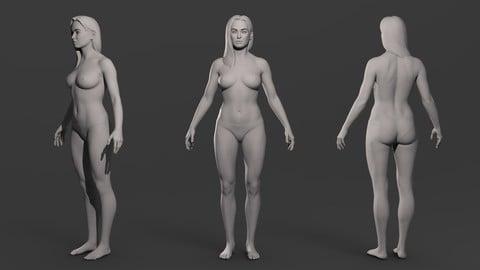 Realistic Female Basemesh