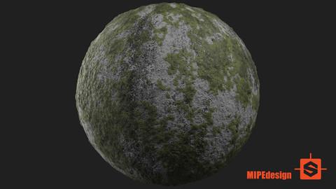 PBR Ground Concrete Mossy Texture