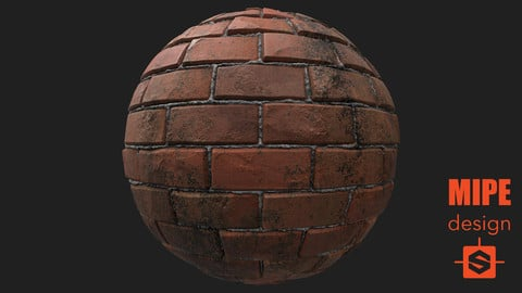 PBR Wall Bricks Dirty Texture