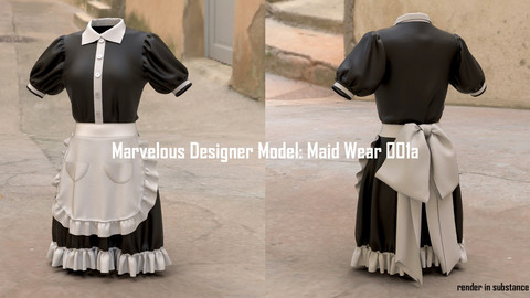 Marvelous Designer Model: Maid Wear 001a