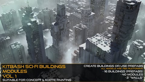 Kitbash Sci-fi Buildings & Modules Vol.1