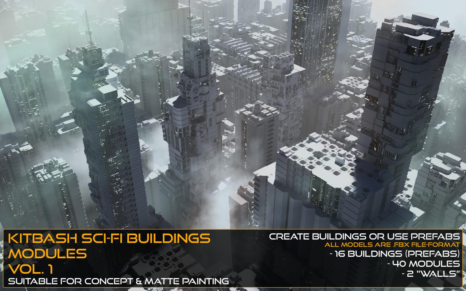 Erik Wadstein - Kitbash Sci-fi Buildings & Modules Vol 1
