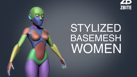 Stylized base mesh women