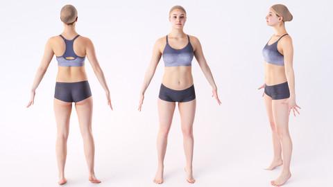 Female (woman) sport scan 02