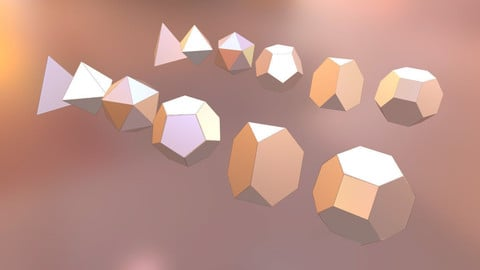Platonic Solids - Start up shape / Low-poly 3D model