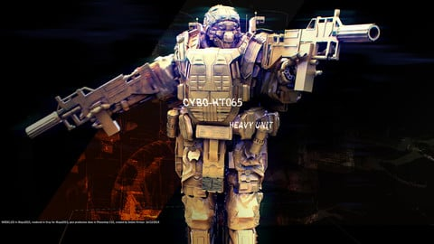 Future Soldier SYBO /  heavy unit  / POSED / 3D model