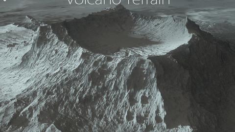 Terrain - 3 Volcano Height maps / Models