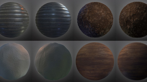 [CLEARCUT SERIES Episode 2] Creating 4 different materials in substance designer